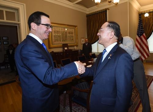 韩美财长会晤讨论关税和日本限贸