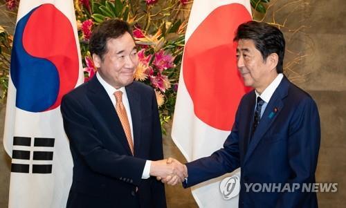 详讯:韩国总理李洛渊会见日本首相安倍晋三