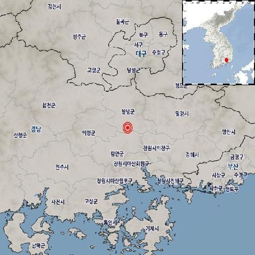 韩国庆尚南道发生3.4级地震