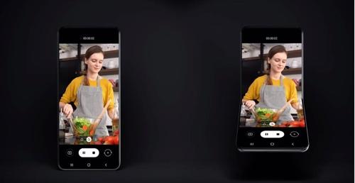 三星电子发布新款可折叠智能手机设计。 韩联社/三星电子Newsroom视频截图(图片严禁转载复制)