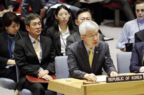 韩官员在安理会会议吁恢复慰安妇受害者名誉