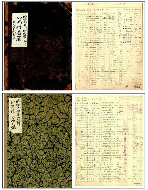 """日本""""贝岛大之浦6·7煤矿""""劳动者名单 国家记录院供图(图片严禁转载复制)"""