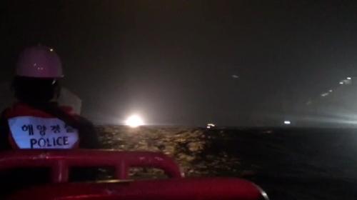 韩一架消防直升机坠海 7人下落不明