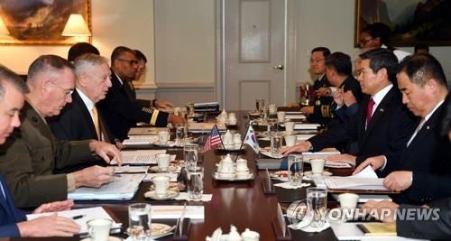 资料图片:第50次韩美安保会议现场照 韩联社