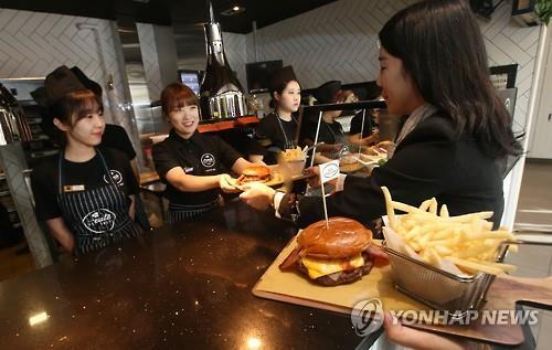 麦当劳手工汉堡 韩联社