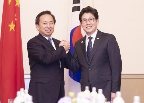 韩中环境部长举行会谈