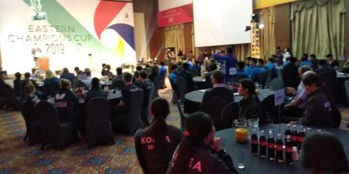 首届韩朝中俄日乒乓球对抗赛在俄开幕