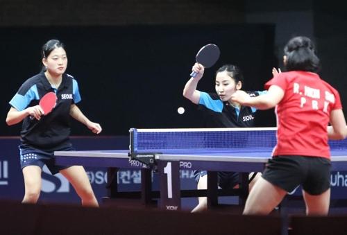 韩朝中俄日乒乓球对抗赛开打 首尔女队不敌平壤
