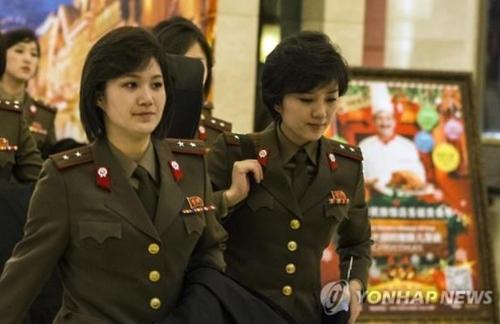 资料图片:牡丹峰乐团 韩联社