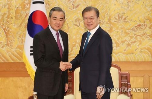 详讯:文在寅接见中国外长王毅