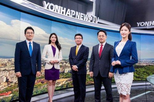 资料图片:韩联社TV主播阵容 韩联社TV供图(图片严禁转载复制)