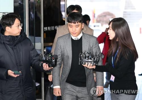 BIGBANG前成员胜利再接受逮捕必要性审查