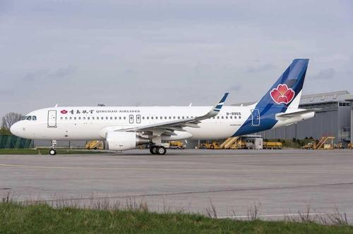 资料图片:青岛航空客机 搜狐网截图