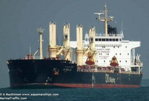CH BELLA号 MarineTraffic网站供图(图片严禁转载复制)