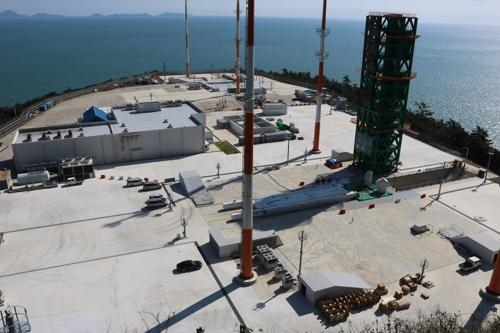 第二发射架施工现场 韩国航空宇宙研究院供图(图片严禁转载复制)