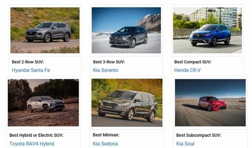 起亚索兰托等四款被美刊评为最超值车型