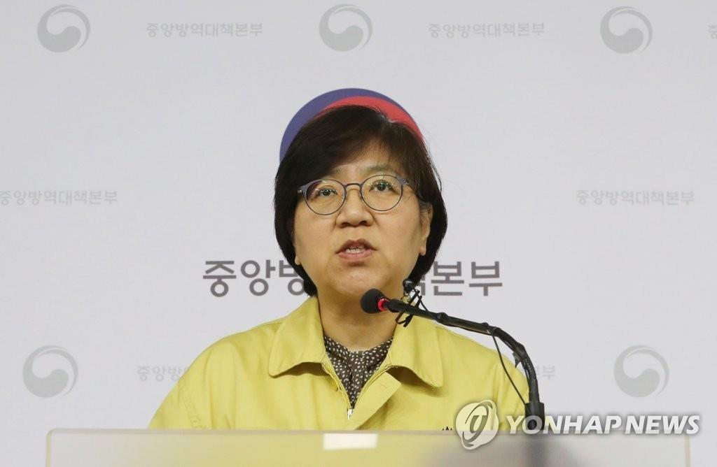 资料图片:疾病管理本部长郑银敬 韩联社