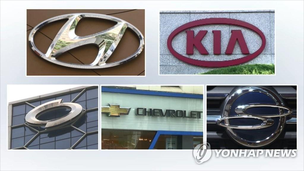 韩国五大整车厂商1月销量同比减少6%