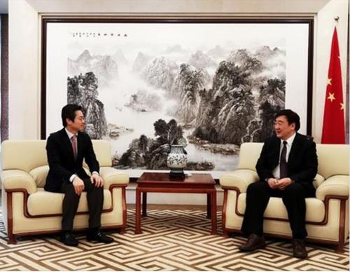 中国驻韩大使邢海明会见三星电子副社长金圆暻