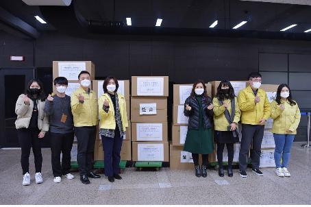 中国多地向釜山援助防疫物资