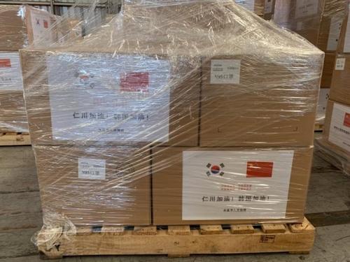 中国多地向仁川回赠防疫物资