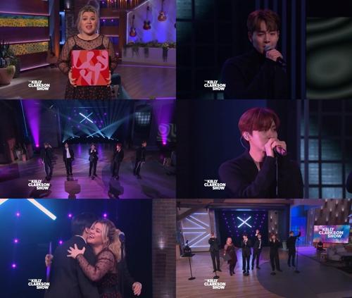 MONSTA X登《凯利·克拉克森秀》献唱新辑主打歌 STARSHIP娱乐供图(图片严禁转载复制)