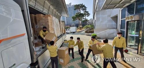 华为向大邱市教育厅捐赠防疫物资