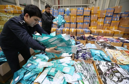 韩国3月口罩进口大增 自华进口占六成多