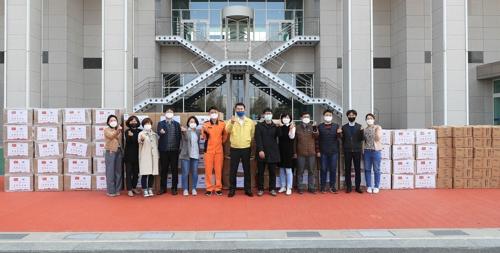 大田市收到武汉等中国五城回赠防疫物资