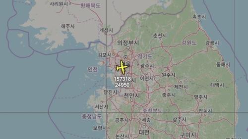 美国海军电子侦察机EP-3E的飞行轨迹 飞机守望推特截图(图片严禁转载复制)