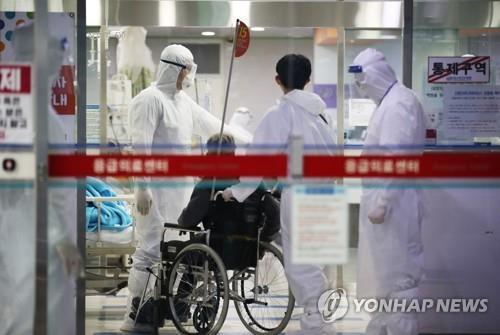 资料图片:大邱市的一家医院 韩联社
