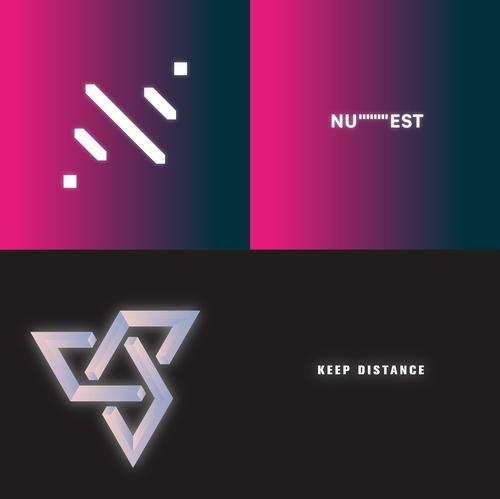 上下图分别为NU'EST和SEVENTEEN推出的新LOGO。