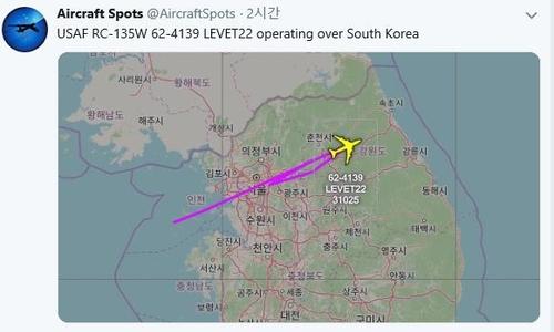 美军侦察机在朝鲜开最高人民会议之际飞临韩半岛