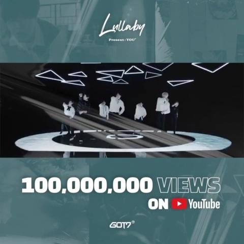 GOT7《Lullaby》MV优兔播放量破1亿。 JYP娱乐供图(图片严禁转载复制)