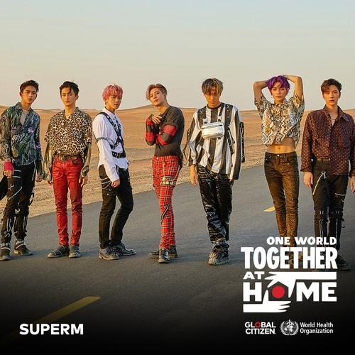 资料图片:韩团SuperM 韩联社/SM娱乐供图(图片严禁转载复制)