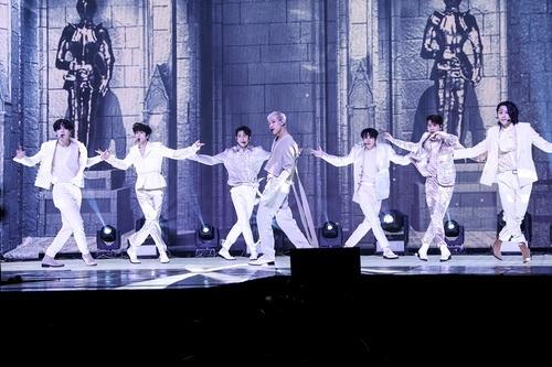 GOT7新辑《DYE》抢听会 韩联社/JYP娱乐供图(图片严禁转载复制)