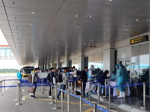 340名获例外入境许可韩企人士抵越