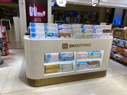 韩仁川国际机场进境免税店今起销售香烟