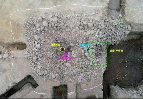 资料图片:庆州市皇南洞120-2号新罗王朝墓葬遗址 韩国文化财厅供图(图片严禁转载复制)