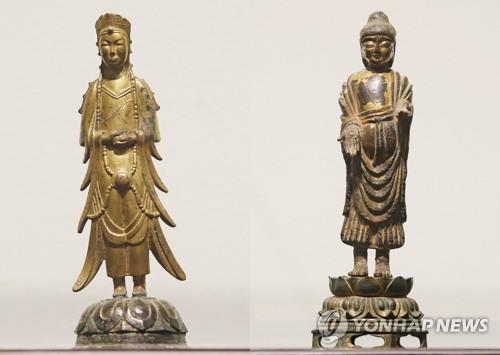 韩涧松美术馆拍卖两件国宝佛像均流标