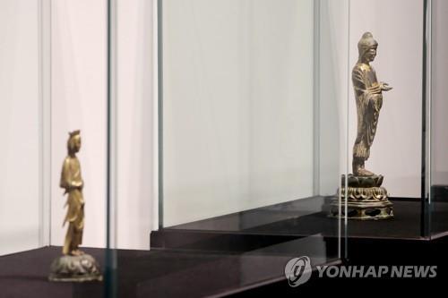 详讯:韩涧松美术馆拍卖两件国宝佛像均流标