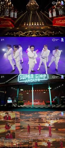 Super Junior在线演唱会舞台 Label SJ供图(图片严禁转载复制)