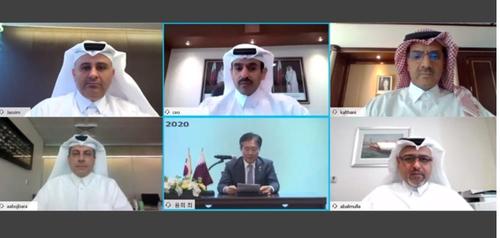 韩国造船厂与卡塔尔石油公司视频会议截图 卡塔尔石油公司官网截图(图片严禁转载复制)