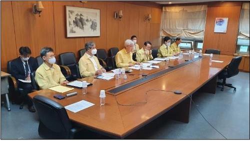 6月2日上午,外交部第二次官李泰镐主持召开视频会议,就美国境内示威事件给韩侨带来的影响进行讨论。 韩联社/外交部供图(图片严禁转载复制)
