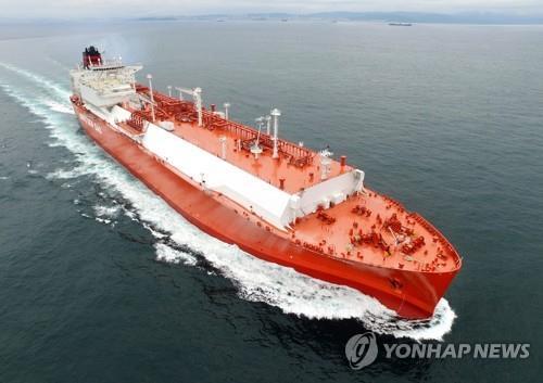 资料图片:现代重工业LNG船 现代重工业供图(图片严禁转载复制)