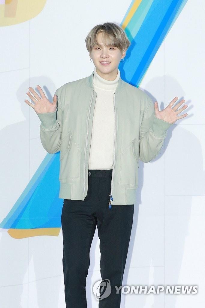 资料图片:SUGA 韩联社/Big Hit娱乐供图(图片严禁转载复制)