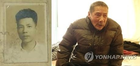 资料图片:左为苏景和年轻时的照片,右为101岁高龄的苏景和。韩联社