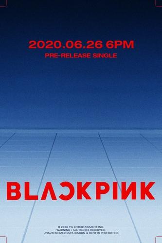 BLACKPINK回归预告海报 YG娱乐供图(图片严禁转载复制)