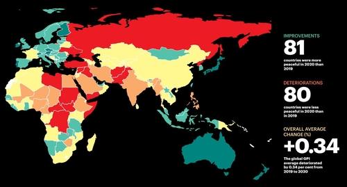 报告:韩朝和平指数分列全球第48和第151