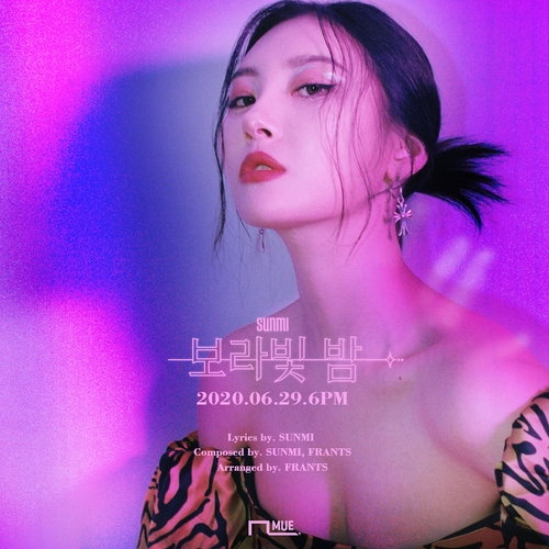 宣美新曲预告海报 韩联社/MAKEUS娱乐供图(图片严禁转载复制)